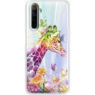 Силиконовый чехол BoxFace Realme 6 Colorful Giraffe (40470-cc14)