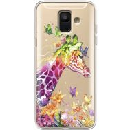 Силиконовый чехол BoxFace Samsung A600 Galaxy A6 2018 Colorful Giraffe (35015-cc14)