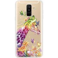 Силиконовый чехол BoxFace Samsung A605 Galaxy A6 Plus 2018 Colorful Giraffe (35017-cc14)