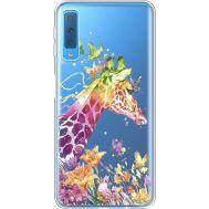 Силиконовый чехол BoxFace Samsung A750 Galaxy A7 2018 Colorful Giraffe (35483-cc14)