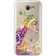 Силиконовый чехол BoxFace Samsung A720 Galaxy A7 2017 Colorful Giraffe (35960-cc14)