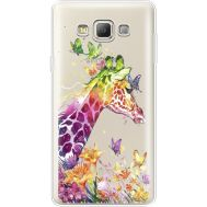 Силиконовый чехол BoxFace Samsung A700 Galaxy A7 Colorful Giraffe (35961-cc14)