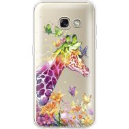 Силиконовый чехол BoxFace Samsung A320 Galaxy A3 2017 Colorful Giraffe (35989-cc14)