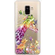 Силиконовый чехол BoxFace Samsung A730 Galaxy A8 Plus (2018) Colorful Giraffe (35992-cc14)