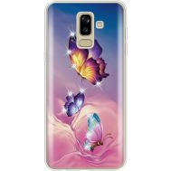 Силиконовый чехол BoxFace Samsung J810 Galaxy J8 2018 Butterflies (935021-rs19)