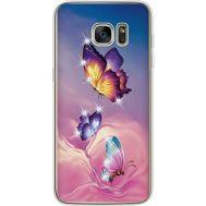 Силиконовый чехол BoxFace Samsung G935 Galaxy S7 Edge Butterflies (935048-rs19)