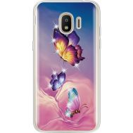 Силиконовый чехол BoxFace Samsung J250 Galaxy J2 (2018) Butterflies (935055-rs19)