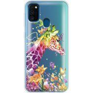 Силиконовый чехол BoxFace Samsung M215 Galaxy M21 Colorful Giraffe (39466-cc14)