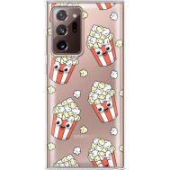 Силиконовый чехол BoxFace Samsung N985 Galaxy Note 20 Ultra с 3D-глазками Popcorn (40574-cc75)
