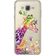 Силиконовый чехол BoxFace Samsung J700H Galaxy J7 Colorful Giraffe (34980-cc14)
