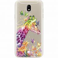 Силиконовый чехол BoxFace Samsung J730 Galaxy J7 2017 Colorful Giraffe (35020-cc14)