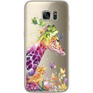 Силиконовый чехол BoxFace Samsung G935 Galaxy S7 Edge Colorful Giraffe (35048-cc14)