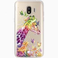 Силиконовый чехол BoxFace Samsung J250 Galaxy J2 (2018) Colorful Giraffe (35055-cc14)