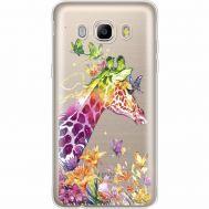 Силиконовый чехол BoxFace Samsung J710 Galaxy J7 2016 Colorful Giraffe (35060-cc14)