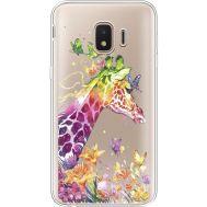 Силиконовый чехол BoxFace Samsung J260 Galaxy J2 Core Colorful Giraffe (35464-cc14)