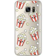 Силиконовый чехол BoxFace Samsung G930 Galaxy S7 с 3D-глазками Popcorn (35495-cc75)