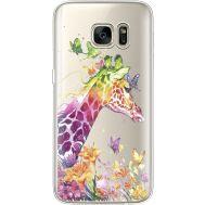 Силиконовый чехол BoxFace Samsung G930 Galaxy S7 Colorful Giraffe (35495-cc14)
