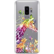 Силиконовый чехол BoxFace Samsung G965 Galaxy S9 Plus Colorful Giraffe (35749-cc14)