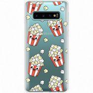 Силиконовый чехол BoxFace Samsung G973 Galaxy S10 с 3D-глазками Popcorn (35879-cc75)