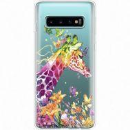 Силиконовый чехол BoxFace Samsung G973 Galaxy S10 Colorful Giraffe (35879-cc14)