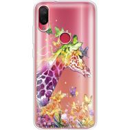 Силиконовый чехол BoxFace Xiaomi Mi Play Colorful Giraffe (36658-cc14)