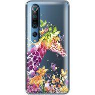 Силиконовый чехол BoxFace Xiaomi Mi 10 Pro Colorful Giraffe (39442-cc14)