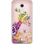 Силиконовый чехол BoxFace Xiaomi Redmi 5 Plus Colorful Giraffe (34969-cc14)