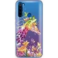 Силиконовый чехол BoxFace Xiaomi Redmi Note 8T Colorful Giraffe (38533-cc14)