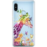 Силиконовый чехол BoxFace Xiaomi Redmi Note 5 / Note 5 Pro Colorful Giraffe (34970-cc14)