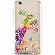 Силиконовый чехол BoxFace Xiaomi Redmi 5A Colorful Giraffe (35028-cc14)