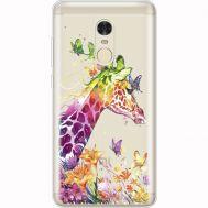 Силиконовый чехол BoxFace Xiaomi Redmi Note 4x Colorful Giraffe (35032-cc14)