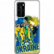 Силиконовый чехол Remax Huawei P40 Ukraine national team
