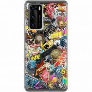 Силиконовый чехол Remax Huawei P40 CS:Go Stickerbombing