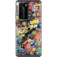 Силиконовый чехол Remax Huawei P40 Pro CS:Go Stickerbombing