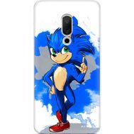 Силиконовый чехол Remax Meizu 15 Sonic Blue