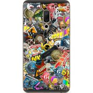 Силиконовый чехол Remax Meizu 15 Plus CS:Go Stickerbombing
