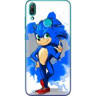 Силиконовый чехол Remax Huawei Y7 2019 Sonic Blue