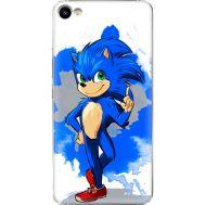 Силиконовый чехол Remax Meizu U10 Sonic Blue
