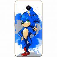 Силиконовый чехол Remax Meizu M5C Sonic Blue