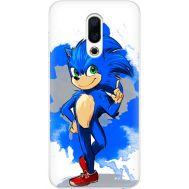 Силиконовый чехол Remax Meizu 16th Sonic Blue