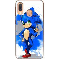 Силиконовый чехол Remax Samsung A405 Galaxy A40 Sonic Blue