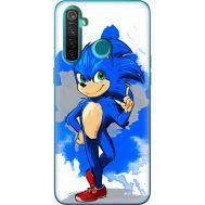 Силиконовый чехол Remax Realme 5 Pro Sonic Blue