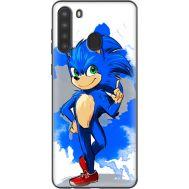 Силиконовый чехол Remax Samsung A215 Galaxy A21 Sonic Blue