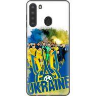 Силиконовый чехол Remax Samsung A215 Galaxy A21 Ukraine national team