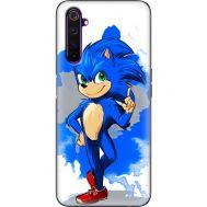 Силиконовый чехол Remax Realme 6 Pro Sonic Blue