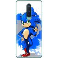 Силиконовый чехол Remax OnePlus 8 Sonic Blue