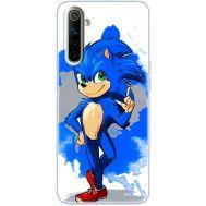Силиконовый чехол Remax Realme 6 Sonic Blue