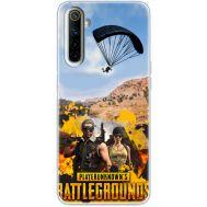 Силиконовый чехол Remax Realme 6 Pubg parachute