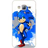 Силиконовый чехол Remax Samsung J320 Galaxy J3 Sonic Blue