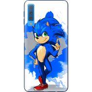 Силиконовый чехол Remax Samsung A750 Galaxy A7 2018 Sonic Blue